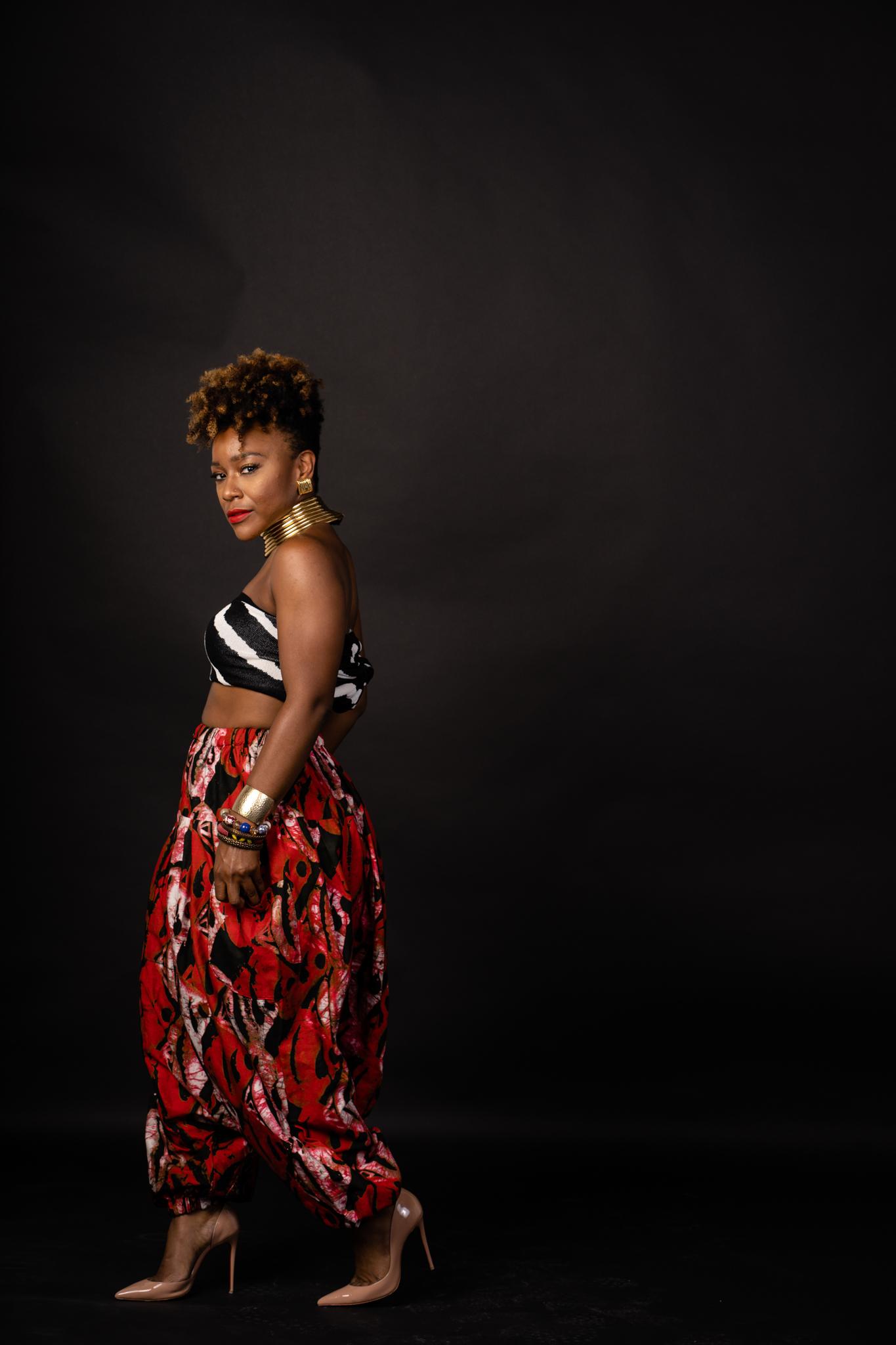 black woman model